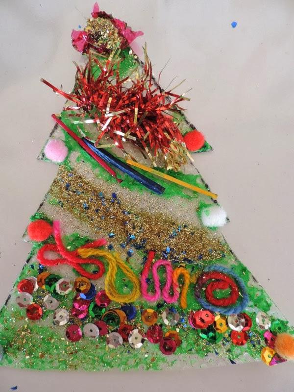 Sensory Christmas Tree Craft