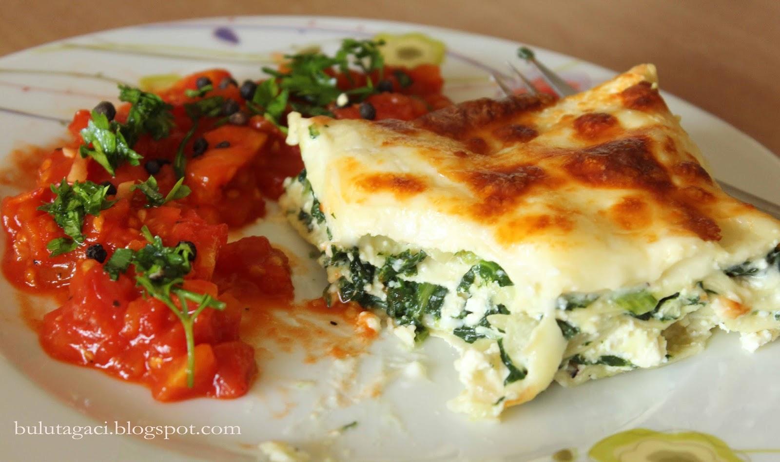 Ispanaklı Ve Peynirli Lazanya Tarifi