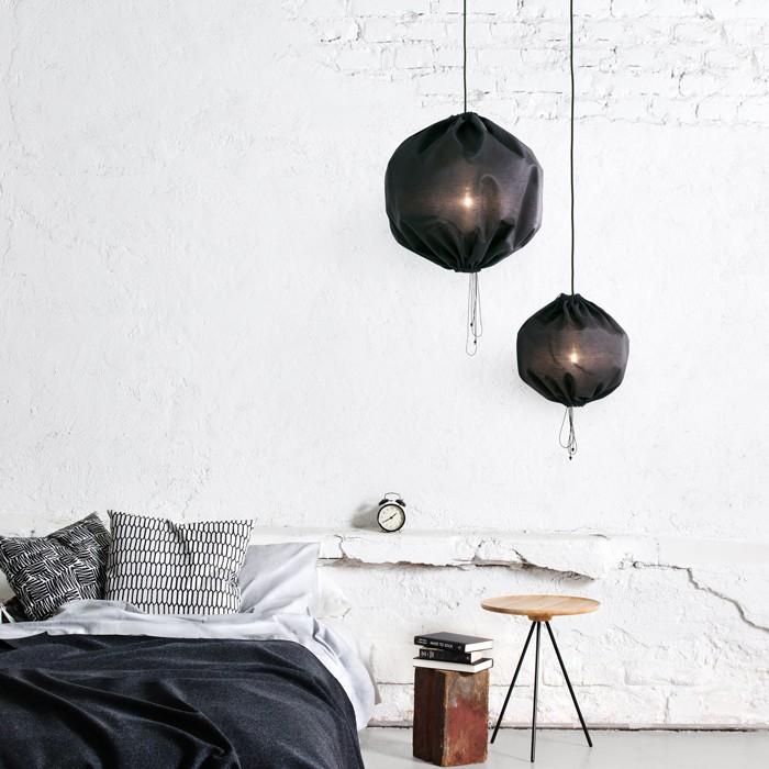 smuk lampe perfekt til at skabe hygge i soveværelset