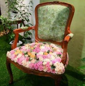 trädgårdsmässan 2015, blommig stol