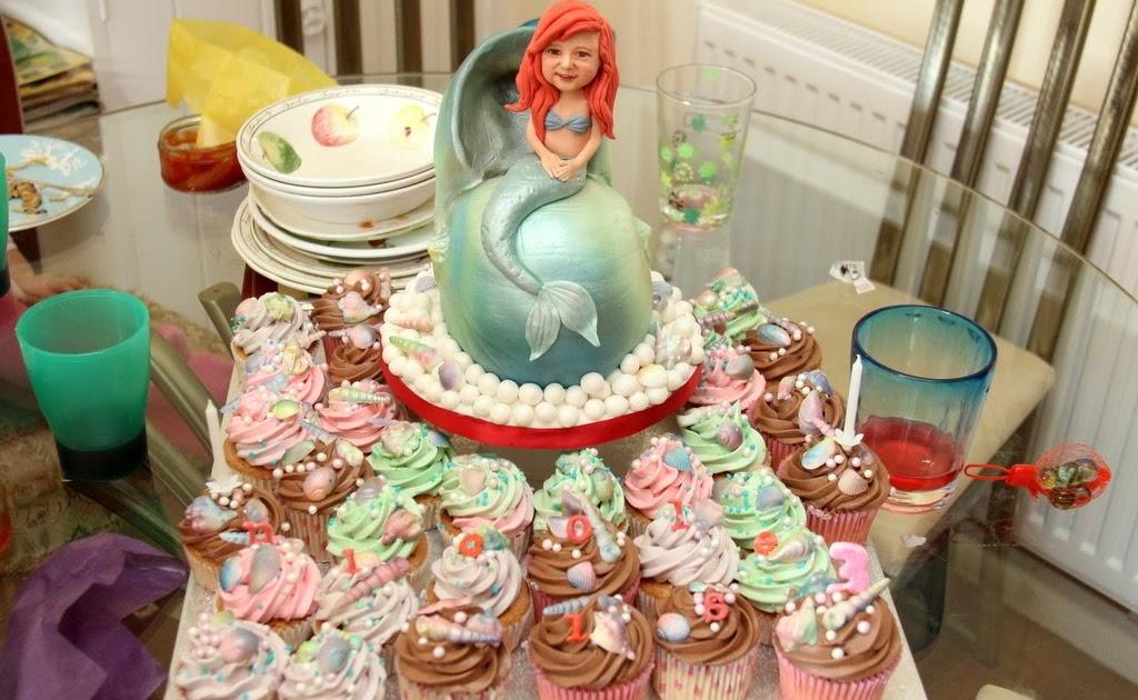 Michelle Sugar Art: Little Mermaid birthday cake for my niece
