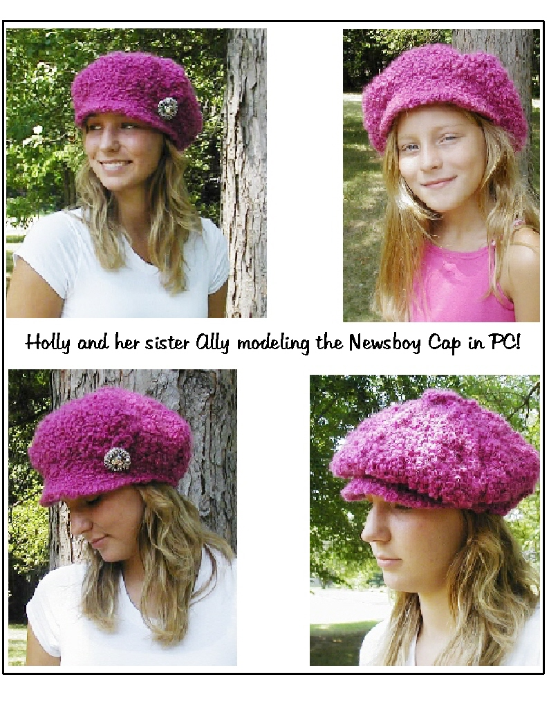 Newsboy Cap Crochet Pattern Pattern Sizes from by JacquiJCrochet