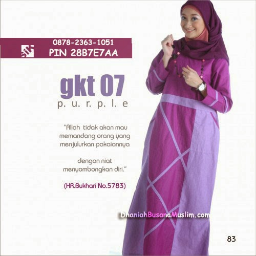 Gamis Sik Clothing GKT 07 Purple