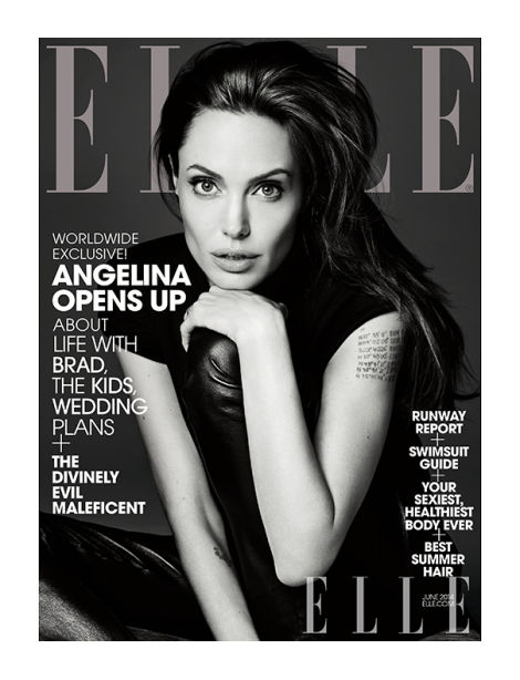 Angelina Jolie by Hedi Slimane for Elle