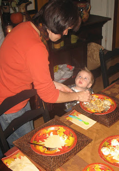 Food Snob Nana Fixing Kade's Plate- He Knows Nana Is Going To Take Care Of Him!