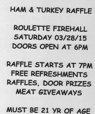3-28 Ham & Turkey Raffle