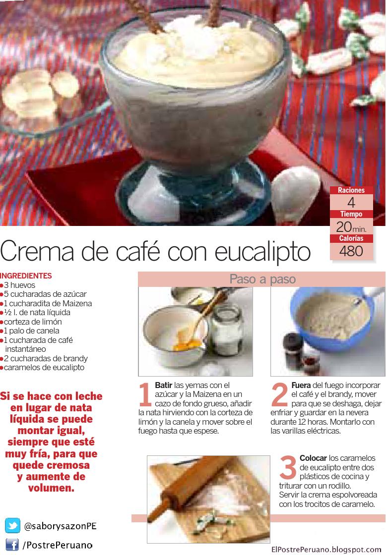 RECETA SENCILLA - CREMA DE CAFÉ CON EUCALIPTO - RECIPES