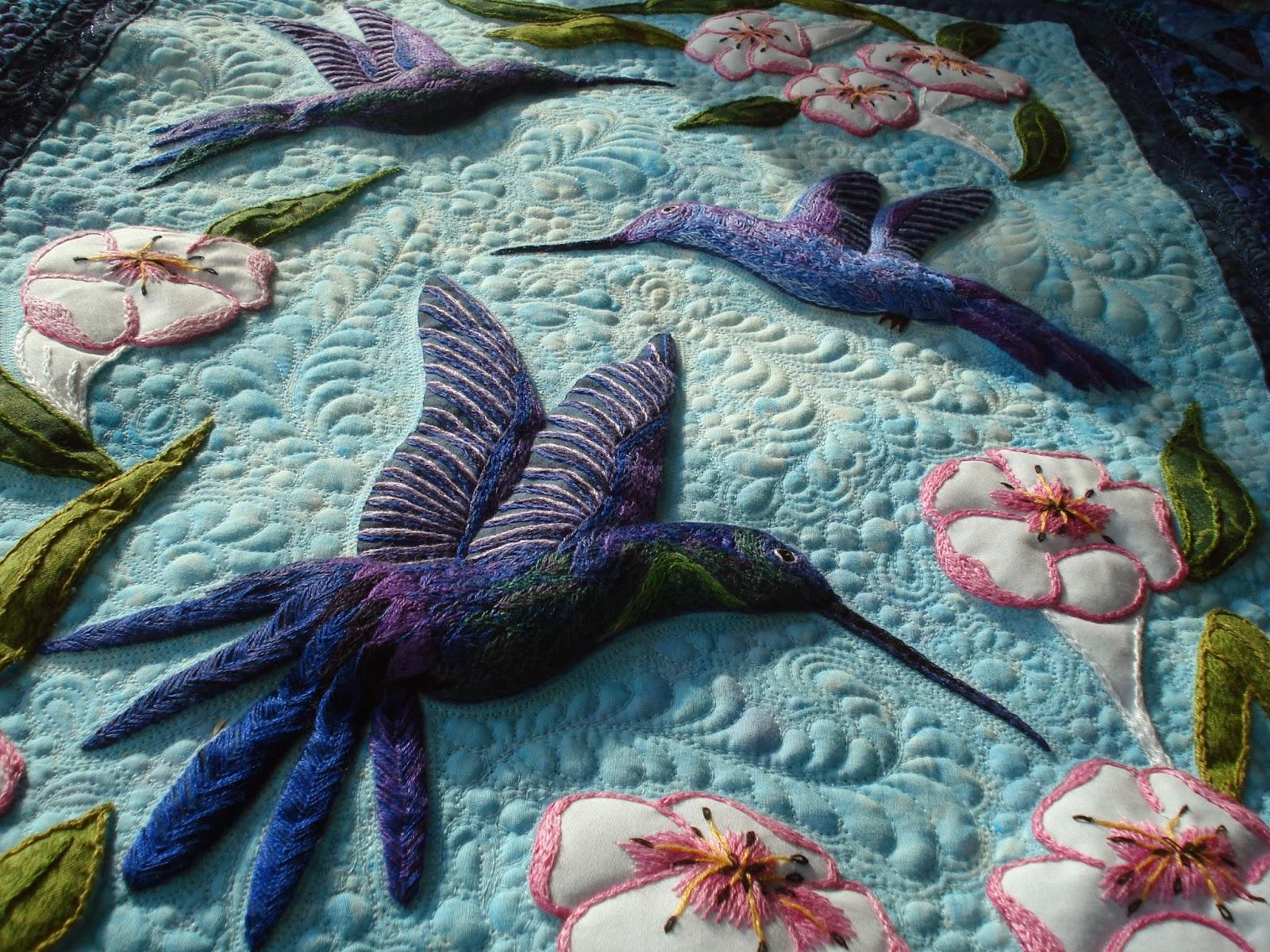 The Nifty Stitcher: Bloggers Quilt Festival Fall 2013 : hummingbird quilts - Adamdwight.com