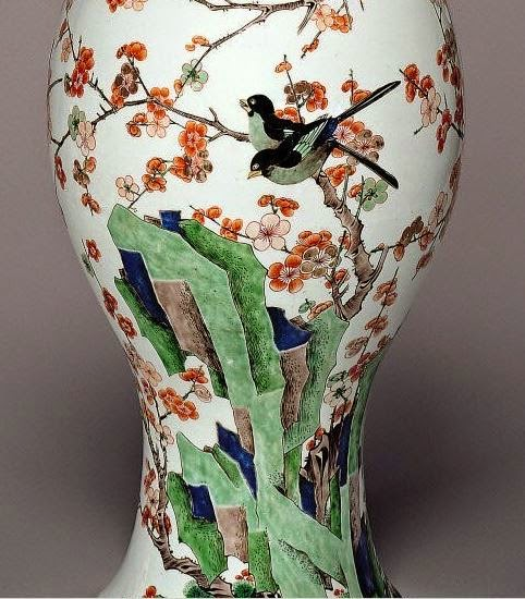 Kangxi Vase Detail of Enamels