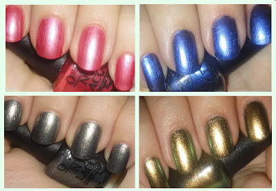 OPI the amazing spiderman mini nail polish set swatches and review