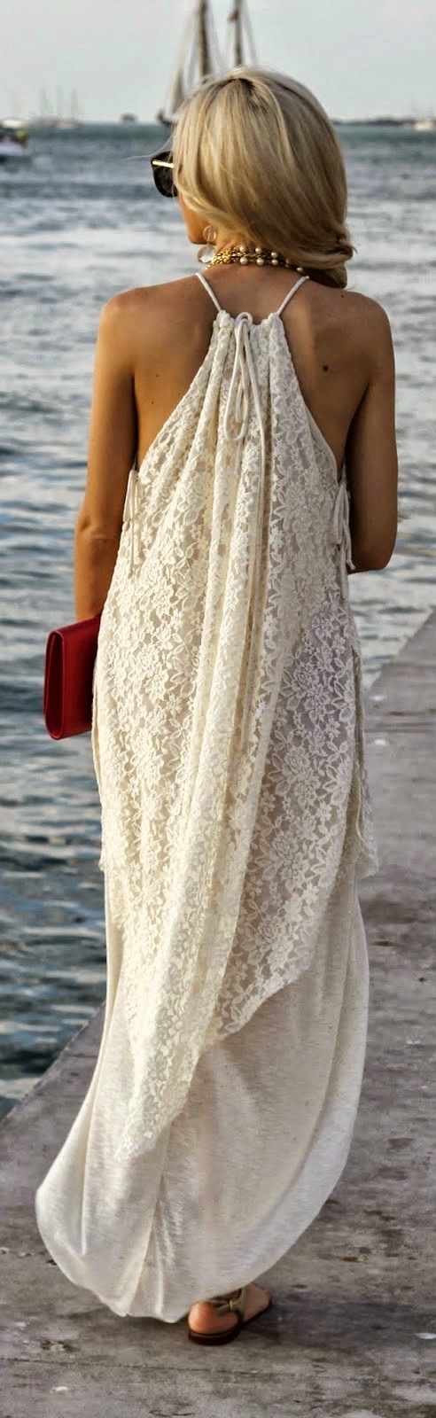White Lace Sleeveless Maxi Dress | Spring / Summer Outfits