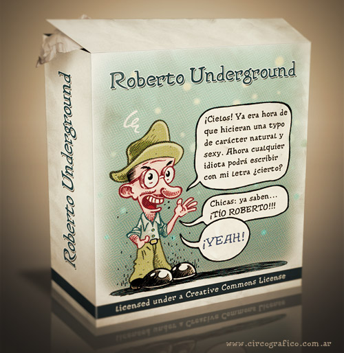 Roberto Undergound Free Font by Alex Dukal