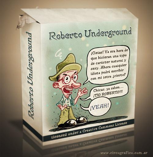 Roberto Undergound Free Font by Alex Dukal