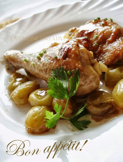 Piletina sa belim grožđem