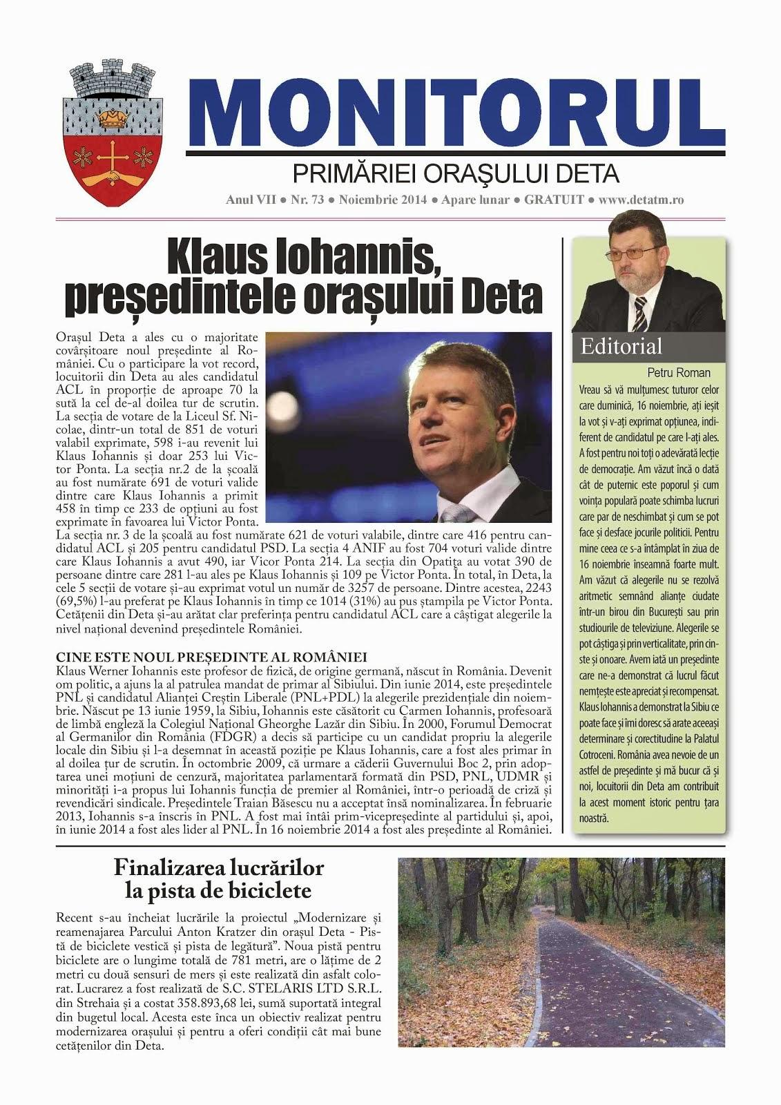 Monitorul - noiembrie 2014