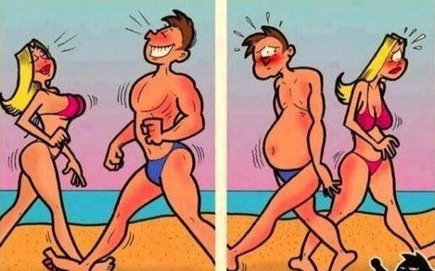 women-and-men-reality funny picture