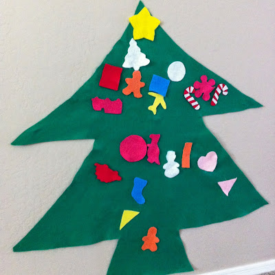 Felt Christmas Tree- DIY, Easy, Fun, Kids, Fast- http://alohamoraopenabook.blogspot.com/