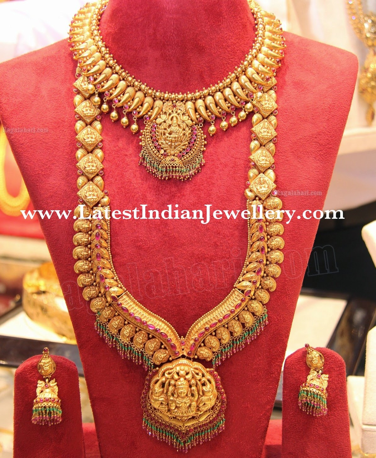 Indian temple jewellery bridal set