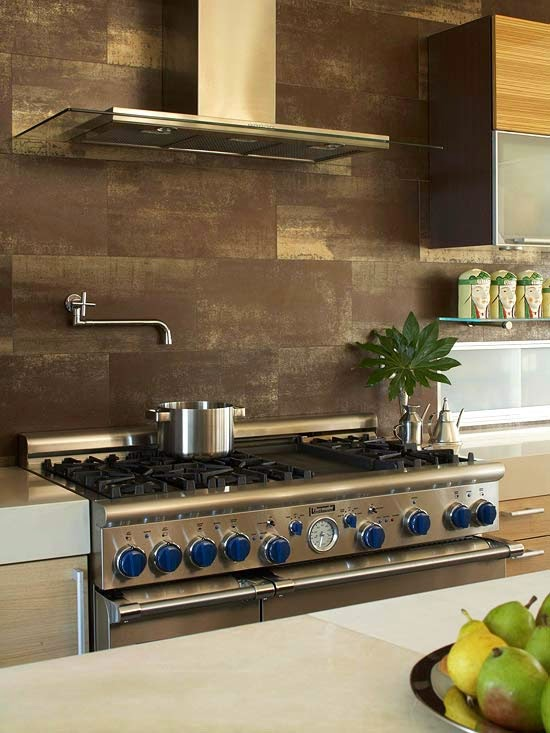 choosing large tile backsplash