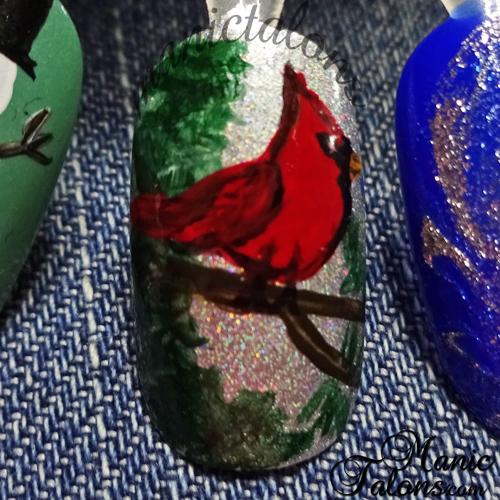 Cardinal Nail Art