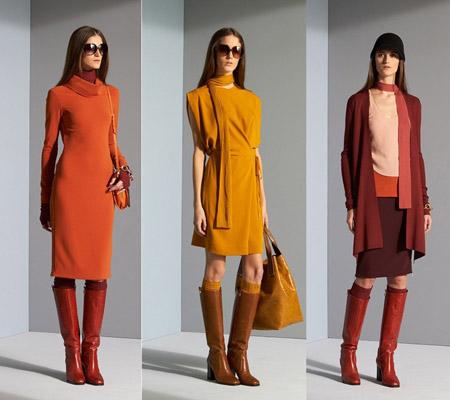 Модные платья зима осень