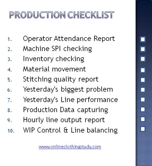 Production Checklist For Garment Factories Online
