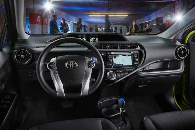 2015 New Toyota Prius C-hatchback interior dashboard