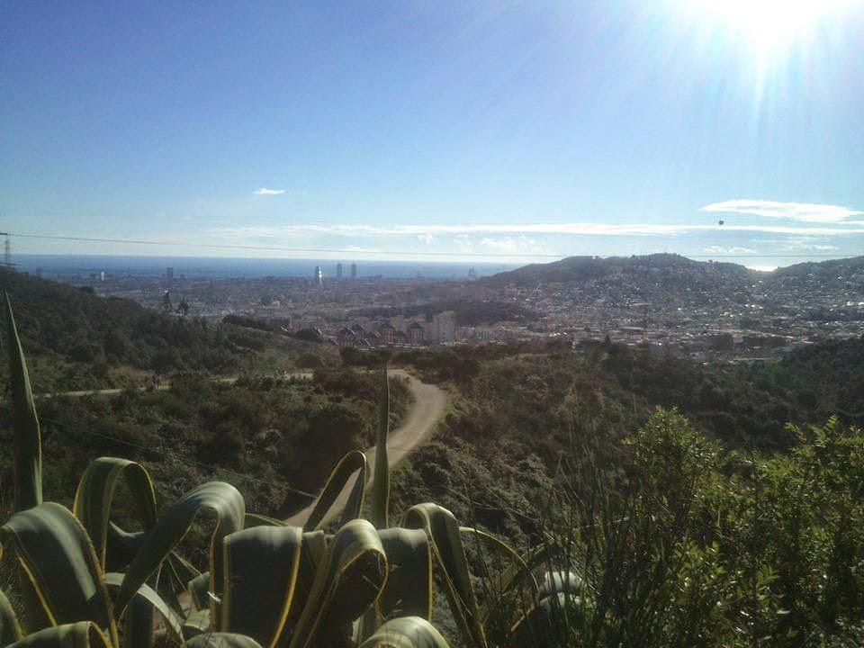 Cara oriental de Collserola. Al fondo, mitad norte de Barcelona. [Foto: Alberto Prieto Martín]