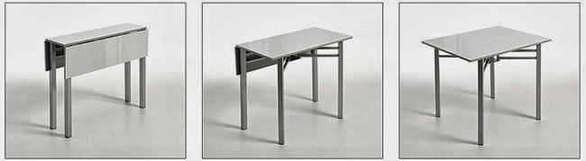 5 mesas para cocinas estrechas o peque as reformas guaita - Mesa plegable de cocina ...