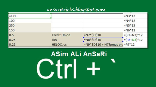 Quickly See All Formulas in Excel with This Shortcut
