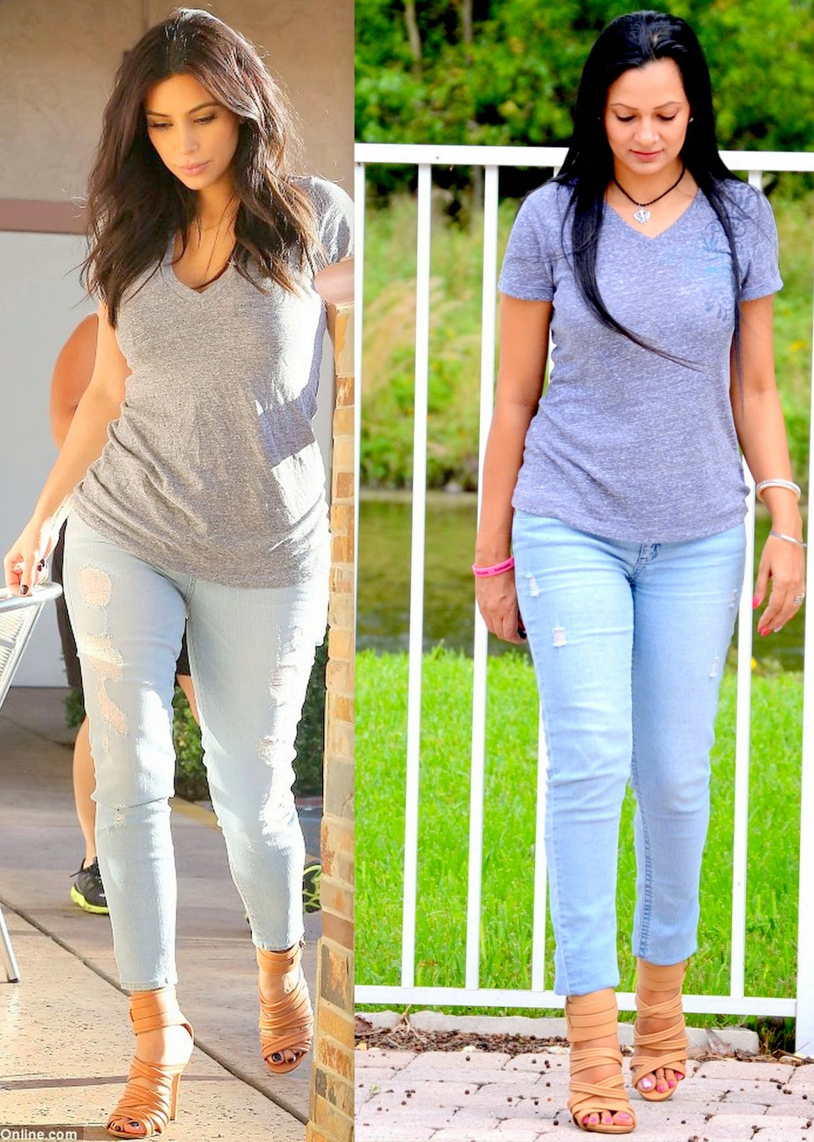 Kim Kardashion Casual Look For Less www.sandysandhu.co