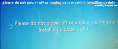 Cara mengatasi please do not power off or unplug your machine installing update