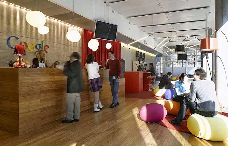 Oficinas google: baÑeras, toboganes, futbolines, hamacas... color ...