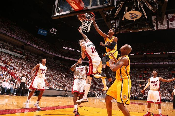 You Got Dunked On: 2013 NBA Playoffs: Paul George Dunks On Chris Andersen (Eastern Conference ...