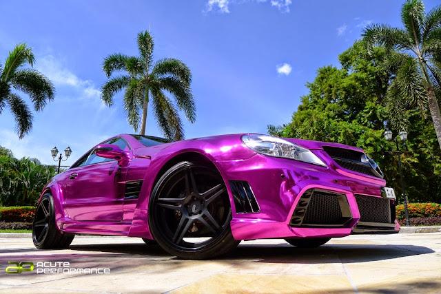 mercedes sl pink