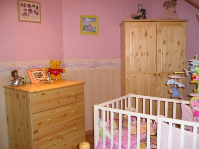 Id e d cor chambre b b pour fille rose b b et d coration chambre b b sant b b - Decoratie murale chambre bebe ...