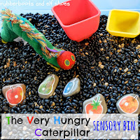 Very Hungry Caterpillar sensory bin