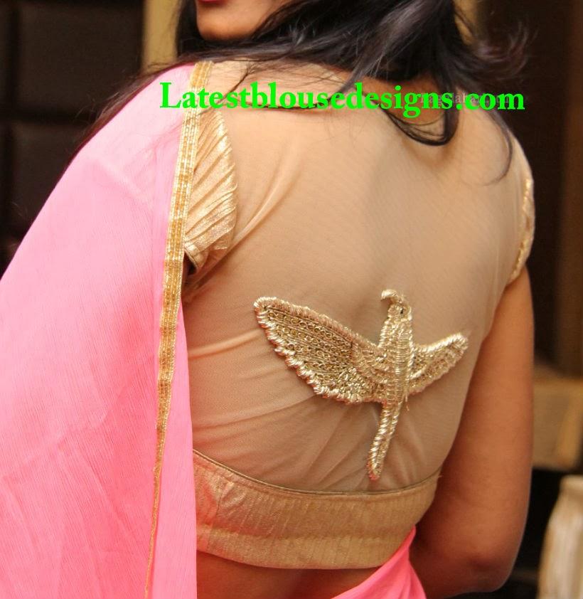 transparent net blouse