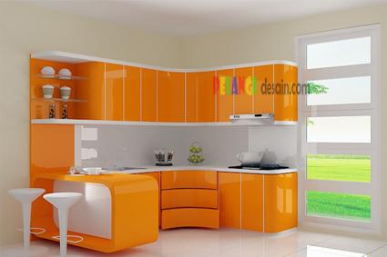 Kitchenset Pelangi Desain Interior Kitchen Set Warna Orange