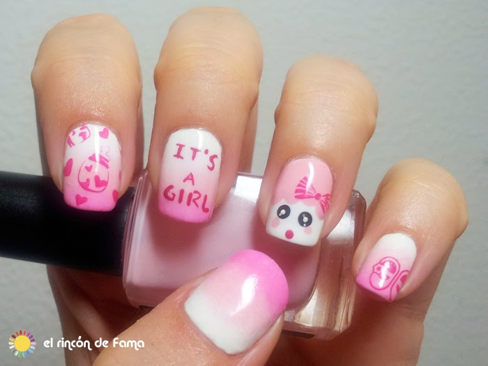Baby shower nail art | el rincon de fama