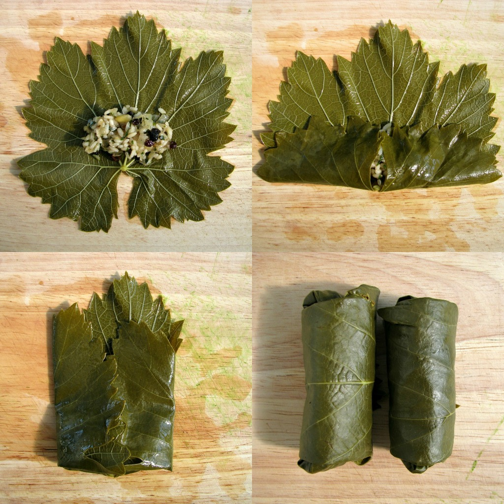 leaves vegetarian grape leaves dolmades recipe dishmaps greek dolmades ...
