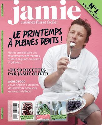 Jamie ! Jamie... Jamie Oliver s'installe de plus en plus de ce côté du Channel, le Jamie en français dans vos kiosques !