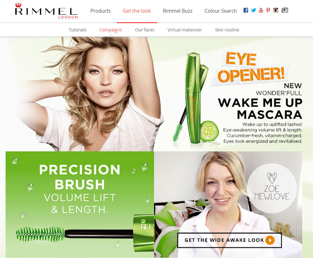 Beauty blogger Zoe Newlove films a video with Rimmel for the New Wake Me Up Mascara