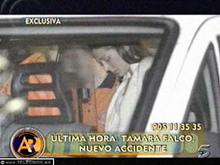 tamara falco accidente