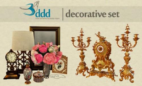Free 3d Objects 3d Models Decorative Set
