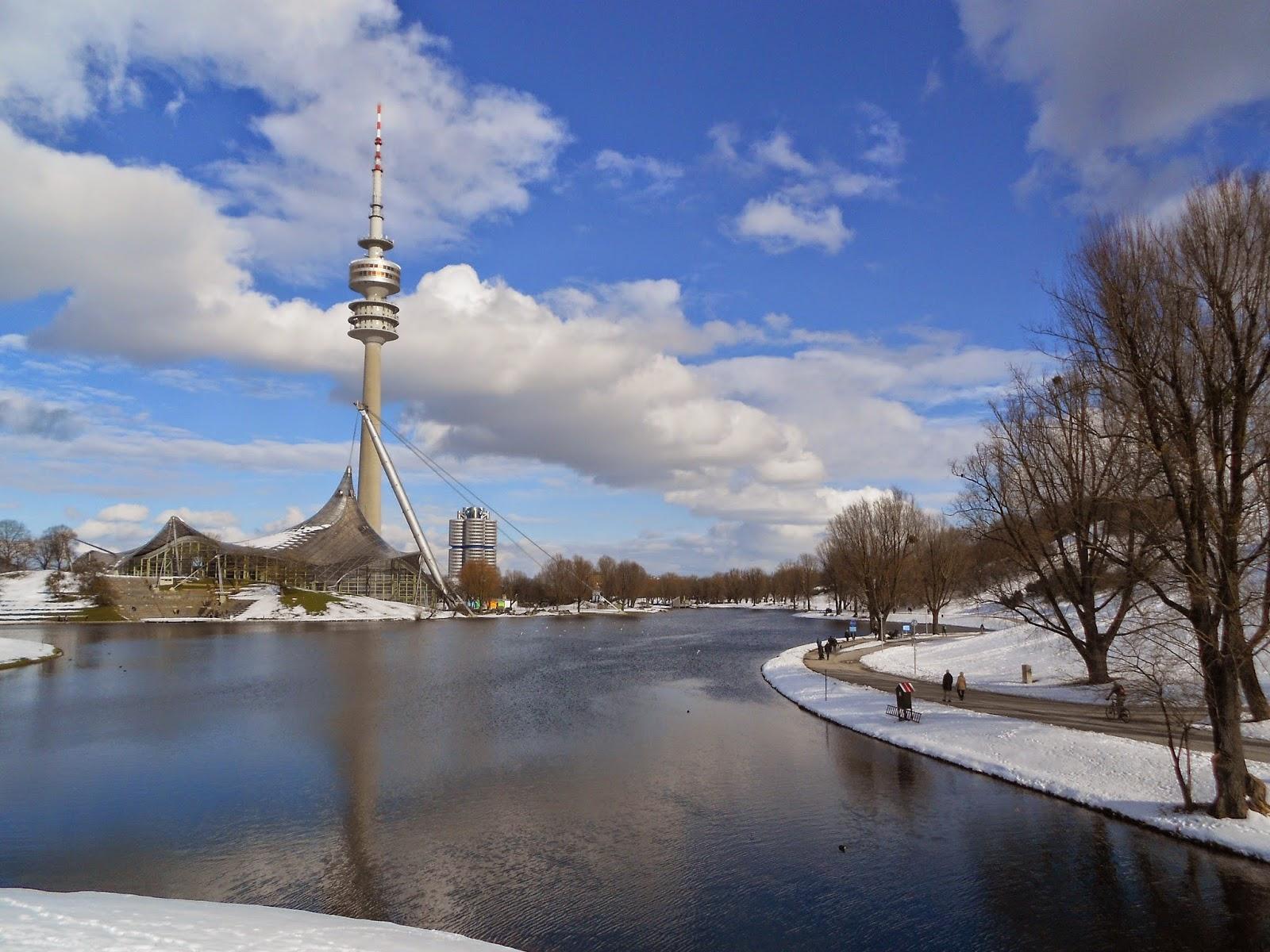 Olympiapark München im Schnee