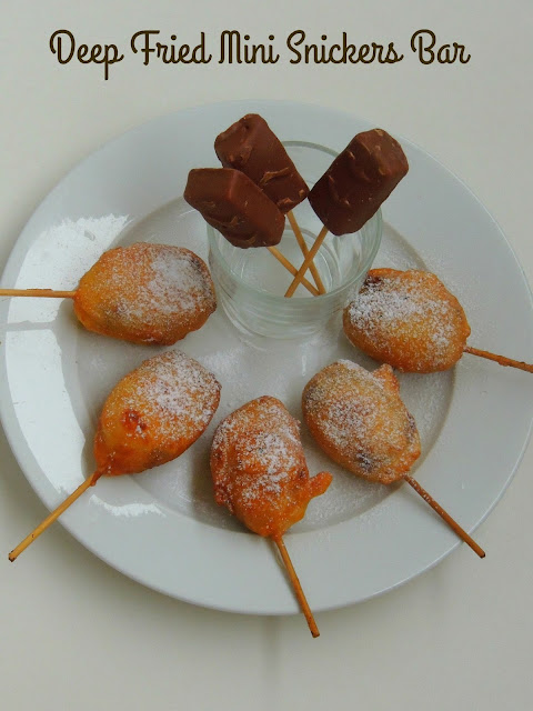 Fried Snickers Bar, Deep fried mini Snickers bar