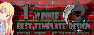 Winner of Best Template Design By Yondarkness