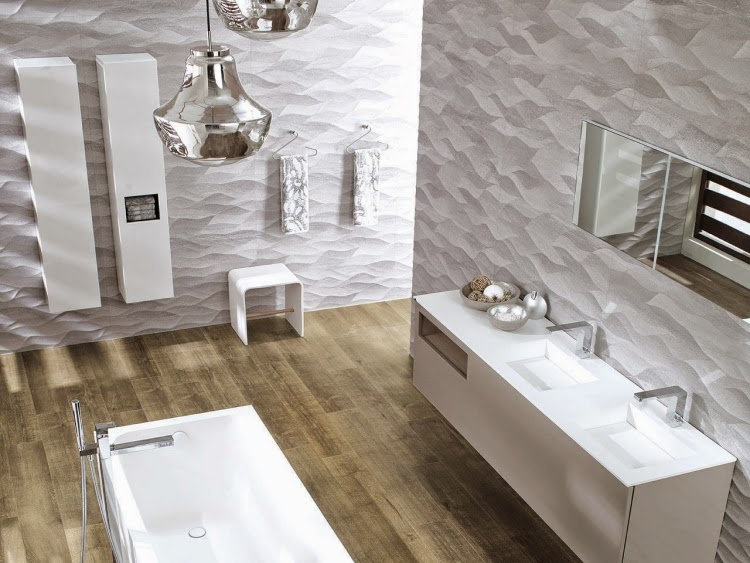 Bathroom tiles 2015 current trends in the design of the for Trends in bathroom tile