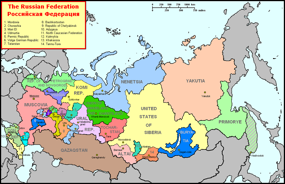 Russia Map After Division